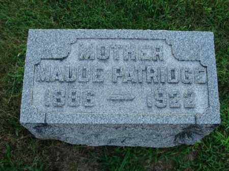 PATRIDGE, MAUDE - Fairfield County, Ohio | MAUDE PATRIDGE - Ohio Gravestone Photos