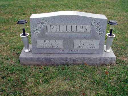 PHILLIPS, JUNE J. - Fairfield County, Ohio | JUNE J. PHILLIPS - Ohio Gravestone Photos