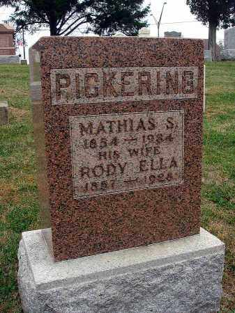PICKERING, MATHIAS S. - Fairfield County, Ohio | MATHIAS S. PICKERING - Ohio Gravestone Photos