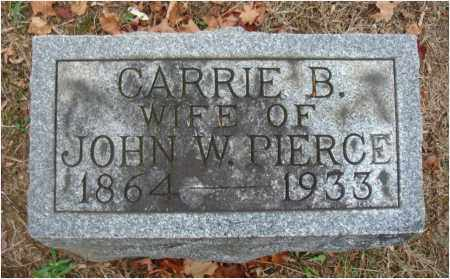 PIERCE, CARRIE B. - Fairfield County, Ohio | CARRIE B. PIERCE - Ohio Gravestone Photos