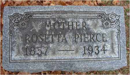 PIERCE, ROSETTA - Fairfield County, Ohio | ROSETTA PIERCE - Ohio Gravestone Photos