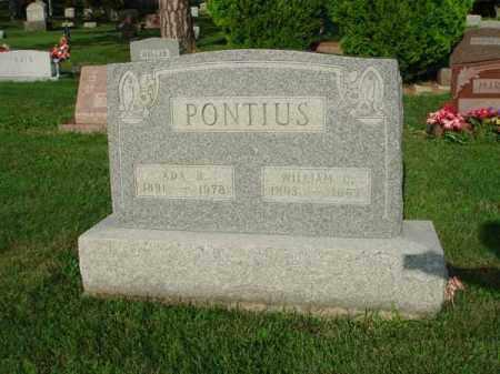 PONTIUS, ADA - Fairfield County, Ohio | ADA PONTIUS - Ohio Gravestone Photos