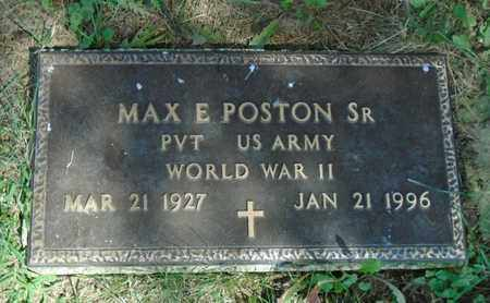 POSTON, MAX E. SR. - Fairfield County, Ohio | MAX E. SR. POSTON - Ohio Gravestone Photos