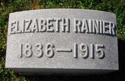 RAINIER, ELIZABETH - Fairfield County, Ohio | ELIZABETH RAINIER - Ohio Gravestone Photos