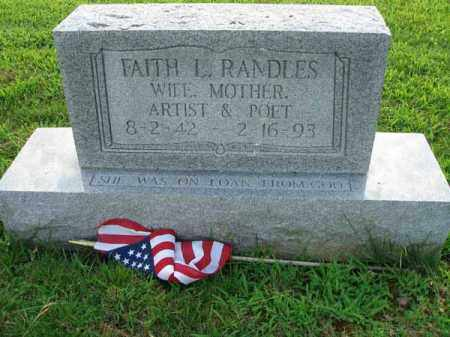RANDLES, FAITH L. - Fairfield County, Ohio | FAITH L. RANDLES - Ohio Gravestone Photos