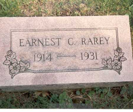 RAREY, EARNEST C. - Fairfield County, Ohio | EARNEST C. RAREY - Ohio Gravestone Photos