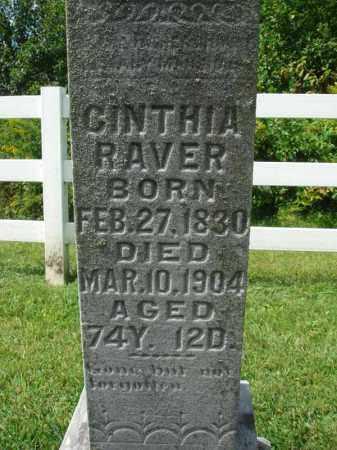 RAVER, CINTHIA - Fairfield County, Ohio   CINTHIA RAVER - Ohio Gravestone Photos