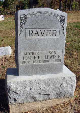 RAVER, JESSIE B. - Fairfield County, Ohio | JESSIE B. RAVER - Ohio Gravestone Photos