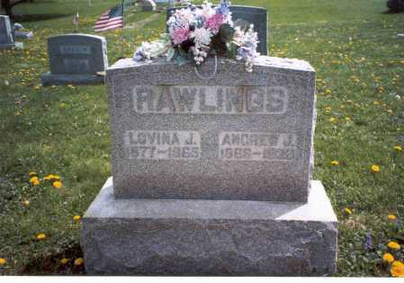RAWLINGS, LOVINA J. - Fairfield County, Ohio | LOVINA J. RAWLINGS - Ohio Gravestone Photos