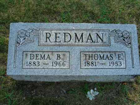 REDMAN, DEMA B. - Fairfield County, Ohio | DEMA B. REDMAN - Ohio Gravestone Photos