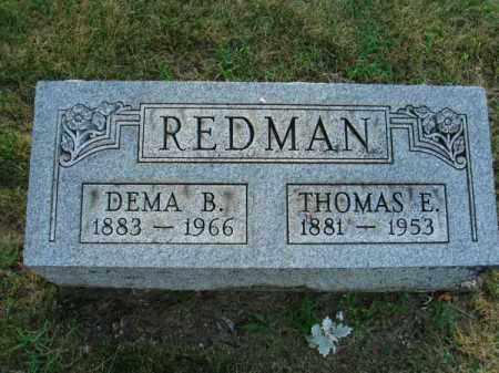 REDMAN, THOMAS E. - Fairfield County, Ohio | THOMAS E. REDMAN - Ohio Gravestone Photos