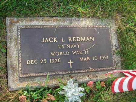 REDMAN, JACK L. - Fairfield County, Ohio | JACK L. REDMAN - Ohio Gravestone Photos