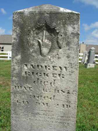 RICKER, ANDREW - Fairfield County, Ohio   ANDREW RICKER - Ohio Gravestone Photos