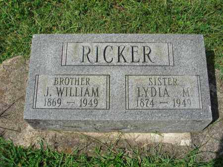 RICKER, LYDIA M. - Fairfield County, Ohio | LYDIA M. RICKER - Ohio Gravestone Photos