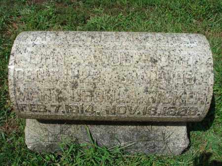 RICKER, JOHN JACOB - Fairfield County, Ohio | JOHN JACOB RICKER - Ohio Gravestone Photos