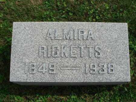 RICKETTS, ALMIRA - Fairfield County, Ohio | ALMIRA RICKETTS - Ohio Gravestone Photos