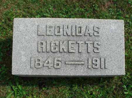 RICKETTS, LEONIDAS - Fairfield County, Ohio | LEONIDAS RICKETTS - Ohio Gravestone Photos