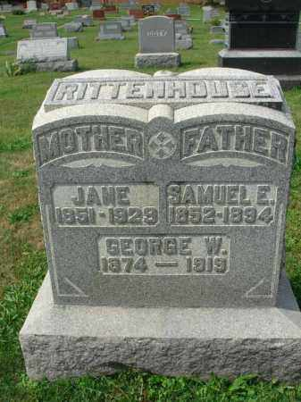 RITTENHOUSE, JANE - Fairfield County, Ohio | JANE RITTENHOUSE - Ohio Gravestone Photos