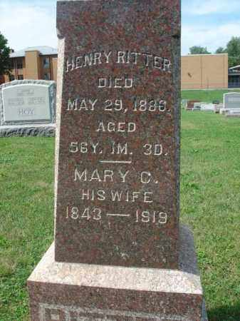 RITTER, MARY C. - Fairfield County, Ohio | MARY C. RITTER - Ohio Gravestone Photos