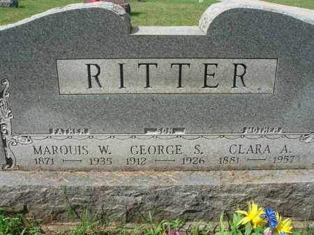 RITTER, MARQUIS W. - Fairfield County, Ohio | MARQUIS W. RITTER - Ohio Gravestone Photos