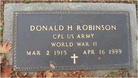 ROBINSON, DONALD H. - Fairfield County, Ohio | DONALD H. ROBINSON - Ohio Gravestone Photos