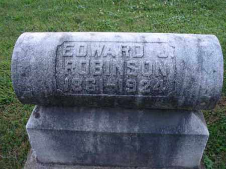 ROBINSON, EDWARD J. - Fairfield County, Ohio | EDWARD J. ROBINSON - Ohio Gravestone Photos
