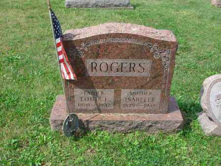 ROGERS, ISABELLE - Fairfield County, Ohio | ISABELLE ROGERS - Ohio Gravestone Photos