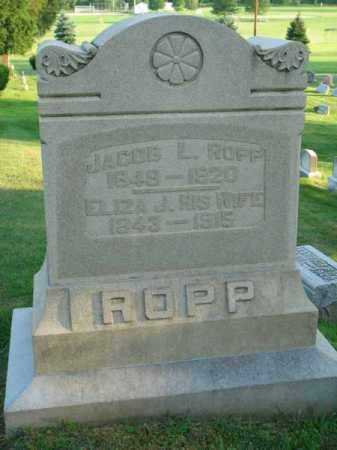 ROPP, JACOB L. - Fairfield County, Ohio | JACOB L. ROPP - Ohio Gravestone Photos