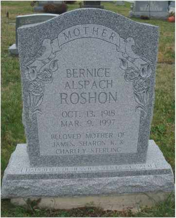 ALSPACH ROSHON, BERNICE - Fairfield County, Ohio | BERNICE ALSPACH ROSHON - Ohio Gravestone Photos