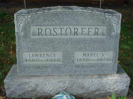 ROSTORFER, MABEL V. - Fairfield County, Ohio | MABEL V. ROSTORFER - Ohio Gravestone Photos