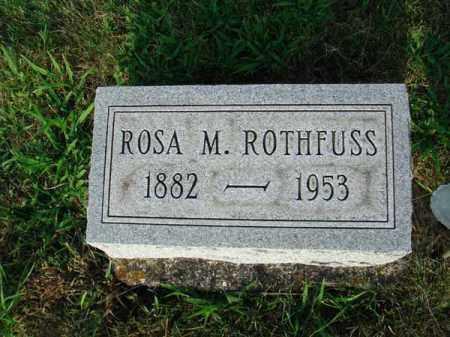 ROTHFUSS, ROSA M. - Fairfield County, Ohio | ROSA M. ROTHFUSS - Ohio Gravestone Photos