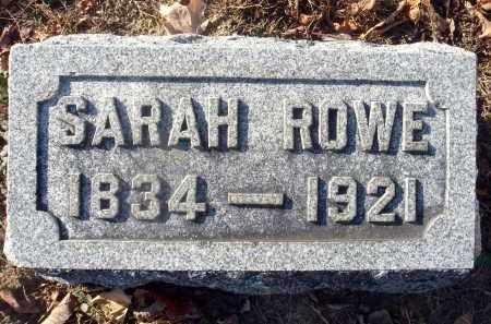 ROWE, SARAH - Fairfield County, Ohio | SARAH ROWE - Ohio Gravestone Photos