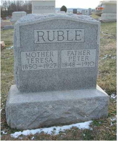 RUBLE, PETER - Fairfield County, Ohio | PETER RUBLE - Ohio Gravestone Photos
