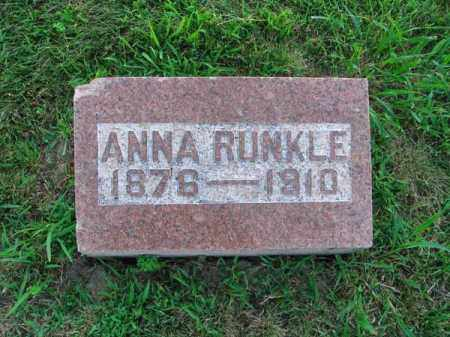 RUNKLE, ANNA - Fairfield County, Ohio | ANNA RUNKLE - Ohio Gravestone Photos