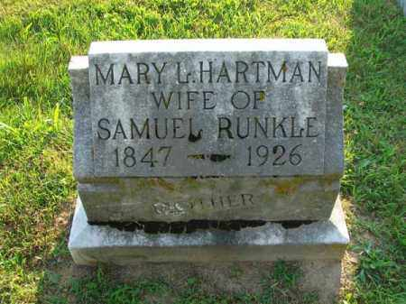 HARTMAN RUNKLE, MARY L. - Fairfield County, Ohio | MARY L. HARTMAN RUNKLE - Ohio Gravestone Photos