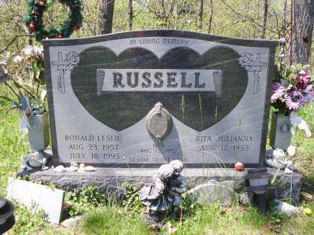 RUSSELL, RONALD LESLIE - Fairfield County, Ohio | RONALD LESLIE RUSSELL - Ohio Gravestone Photos