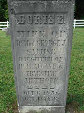 MITHOFF SACHSE, DORIS E. - Fairfield County, Ohio | DORIS E. MITHOFF SACHSE - Ohio Gravestone Photos