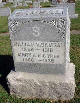 SAMSAL, WILLIAM K. - Fairfield County, Ohio | WILLIAM K. SAMSAL - Ohio Gravestone Photos