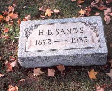 SANDS, H. B. - Fairfield County, Ohio | H. B. SANDS - Ohio Gravestone Photos
