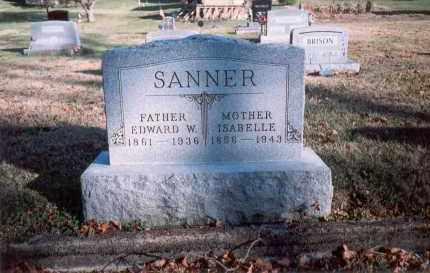 SANNER, EDWARD W. - Fairfield County, Ohio | EDWARD W. SANNER - Ohio Gravestone Photos