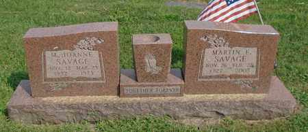 SAVAGE, M. JOANNE - Fairfield County, Ohio | M. JOANNE SAVAGE - Ohio Gravestone Photos