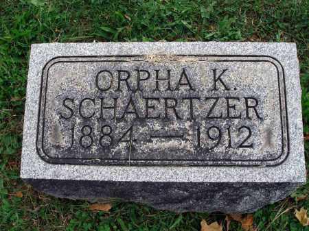SCHAERTZER, ORPHA K. - Fairfield County, Ohio | ORPHA K. SCHAERTZER - Ohio Gravestone Photos