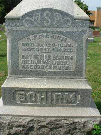 SCHIRM, C. F. - Fairfield County, Ohio | C. F. SCHIRM - Ohio Gravestone Photos