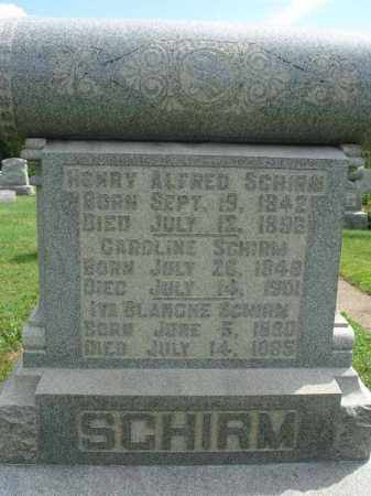 SCHIRM, IVA BLANCHE - Fairfield County, Ohio | IVA BLANCHE SCHIRM - Ohio Gravestone Photos