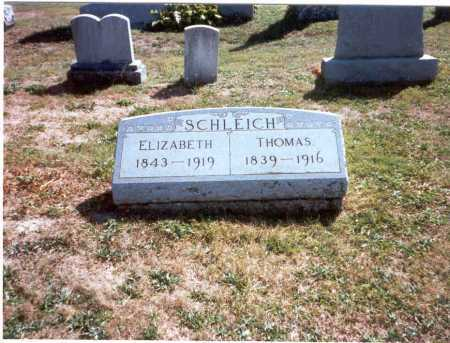 SCHLEICH, ELIZABETH - Fairfield County, Ohio | ELIZABETH SCHLEICH - Ohio Gravestone Photos