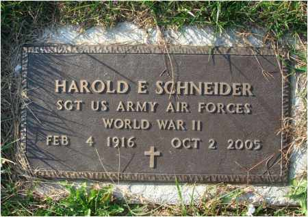 SCHNEIDER, HAROLD E. - Fairfield County, Ohio | HAROLD E. SCHNEIDER - Ohio Gravestone Photos