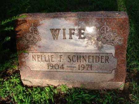 SCHNEIDER, NELLLIE F. - Fairfield County, Ohio | NELLLIE F. SCHNEIDER - Ohio Gravestone Photos
