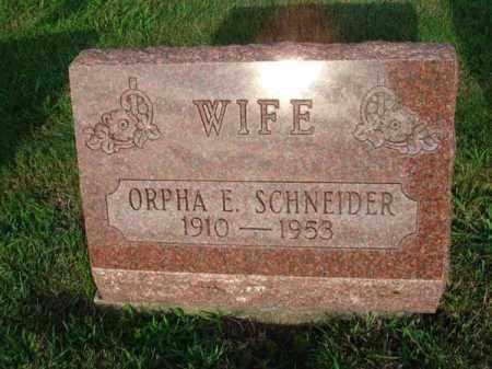 SCHNEIDER, ORPHA E. - Fairfield County, Ohio | ORPHA E. SCHNEIDER - Ohio Gravestone Photos