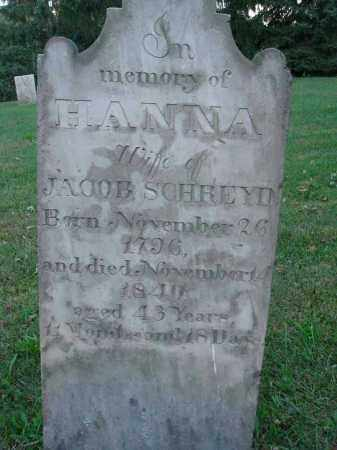 SCHREYD, HANNA - Fairfield County, Ohio | HANNA SCHREYD - Ohio Gravestone Photos