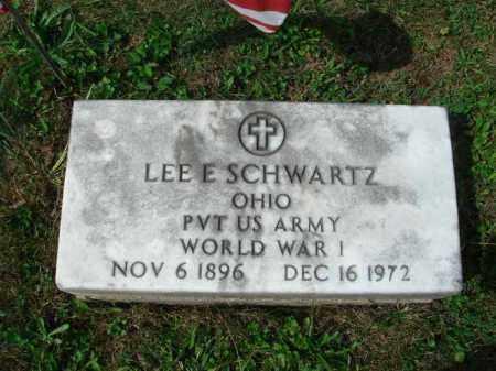 SCHWARTZ, LEE E. - Fairfield County, Ohio | LEE E. SCHWARTZ - Ohio Gravestone Photos